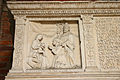 9609 - Milano - Sant'Ambrogio - Facciata - Tomba Pier Candido Decembio (+ 1477) - Foto Giovanni Dall'Orto 25-Apr-2007.jpg
