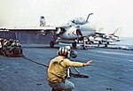 A-6A Intruder of VA-95 is launched from USS Coral Sea (CVA-43), in 1973.jpg