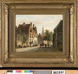 Gezicht op een Nederlandse stad