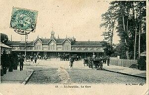 Abbeville - Abbeville railway station (1905 postcard)