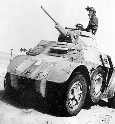 "An Italian ""AB 41"" armored car in Egypt"