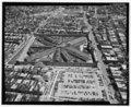 AERIAL VIEW, LOOKING EAST. - Eastern State Penitentiary, 2125 Fairmount Avenue, Philadelphia, Philadelphia County, PA HABS PA,51-PHILA,354-169.tif