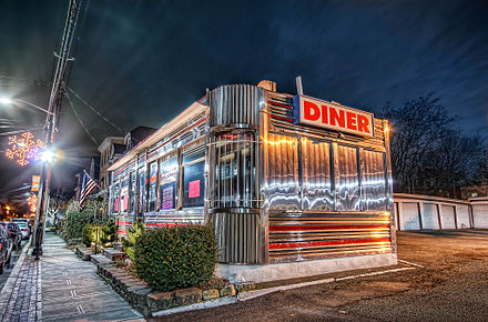 A 1950s-style diner in Orange, Essex County A 50's Style Diner.jpg