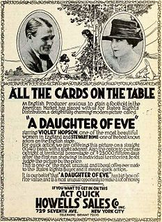 <i>A Daughter of Eve</i> 1919 silent film directed by Walter West