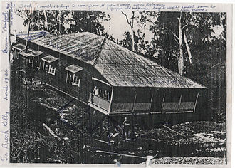 Enoggera Creek - A House Crosses the Creek