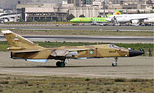 1993 Tehran mid-air collision - Image: A IRIAF Su 24 ready to takeoff from THR