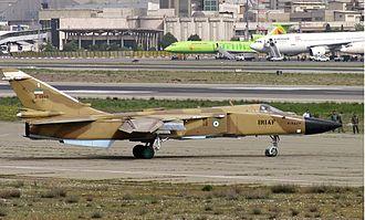 1993 Tehran mid-air collision - Image: A IRIAF Su 24 ready to takeoff from THR
