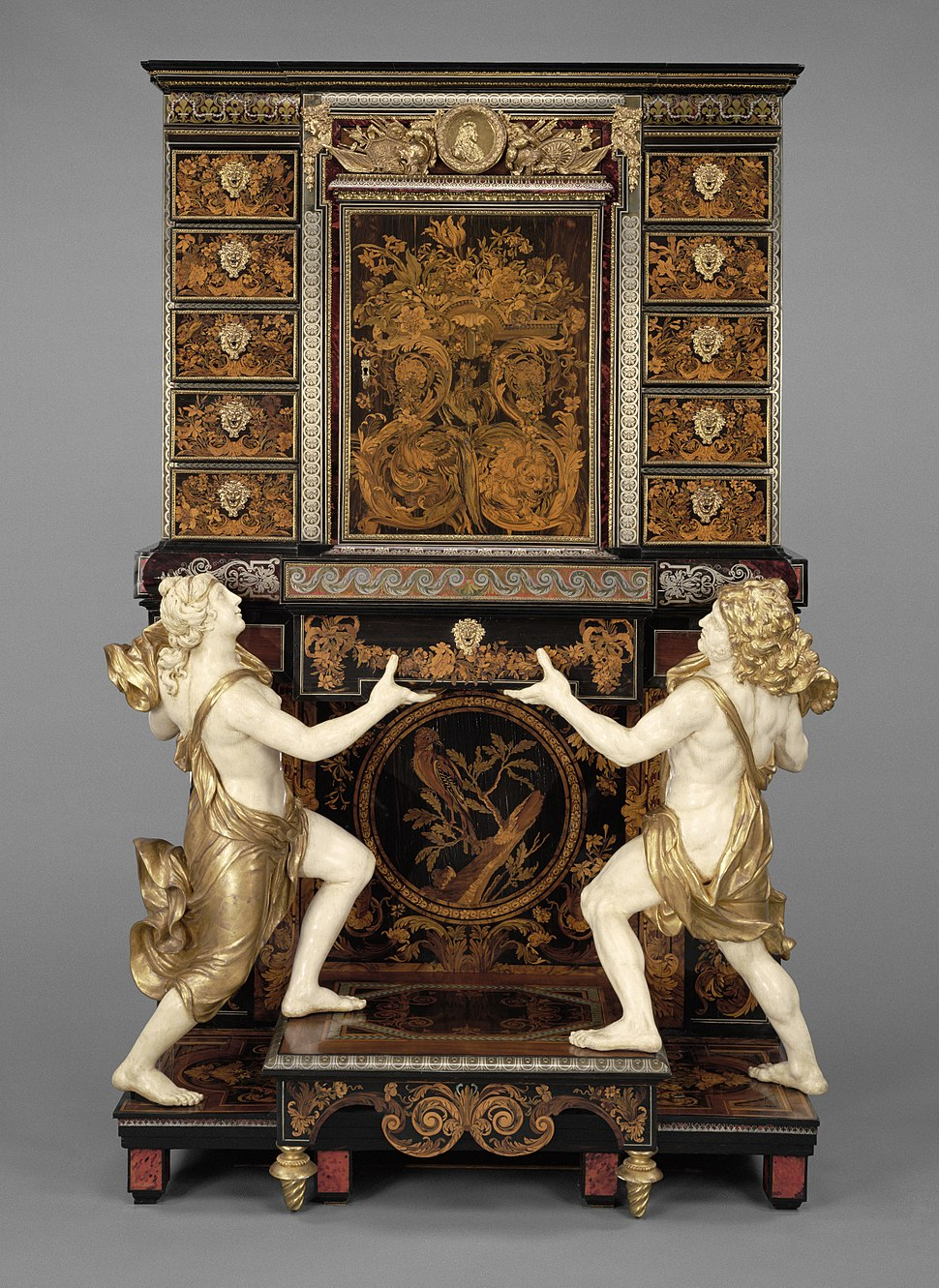A cabinet-on-stand attributed to Andr%C3%A9-Charles Boulle at the Getty Museum