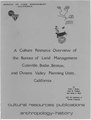 A culture resource overview of the Bureau of Land Management, Coleville, Bodie, Benton and Owens Valley planning units, California (electronic resource) (IA cultureresourceo00busb).pdf