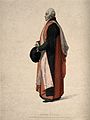 A doctor of physic in his ceremonial congregation robes at O Wellcome V0016006.jpg