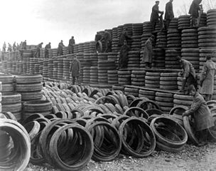 a bunch of tires