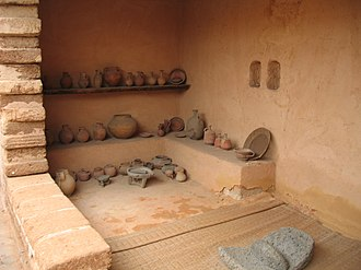 History of ancient Israel and Judah - A reconstructed Israelite house, 10th–7th century BCE. Eretz Israel Museum, Tel Aviv.