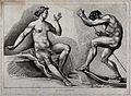 A seated female nude figure and a male nude figure punting i Wellcome V0049083.jpg