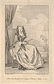 A seated woman holding a closed fan before a drawn curtain, a tree and sky beyond MET DP834137.jpg