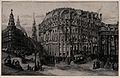 A street scene in Piccadilly, London, with St. Paul's in the Wellcome V0040781.jpg