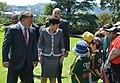 Abdullah II with Wellington Primary School students.jpg