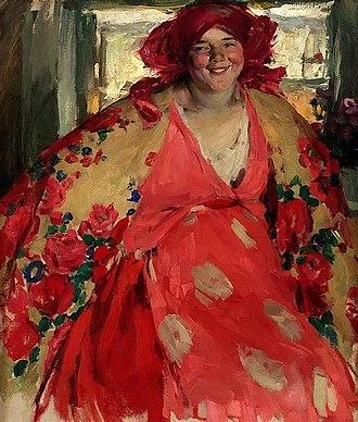 Abram Arkhipov - Image: Abram Arkhipov Smiling girl 1920s Belarusian National Museum of Arts
