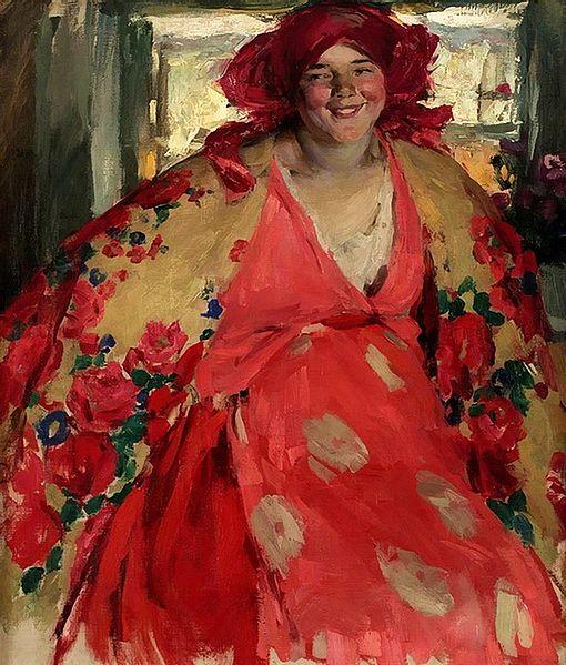 File:Abram Arkhipov Smiling girl 1920s Belarusian National Museum of Arts.jpg