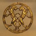 Achemenidi, leoni rampanti in un cerchio, in oro, VI-V sec ac. ca..JPG