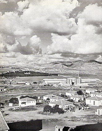 Hartuv - Hartuv, Shimshon cement plant and Judean mountains, Israel