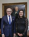Acting Under Secretary of State Michelle Giuda with U.S. Ambassador to the UK Woody Johnson.jpg