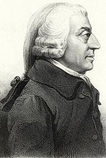 Adam Smith, author of The Wealth of Nations (1776), generally regarded as initiating modern economics.