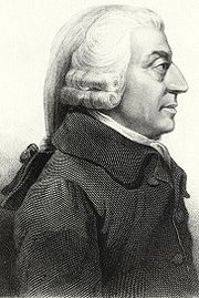 Adam Smith, generally regarded as the Father of Economics, author of An Inquiry into the Nature and Causes of the Wealth of Nations, commonly known as The Wealth of Nations.