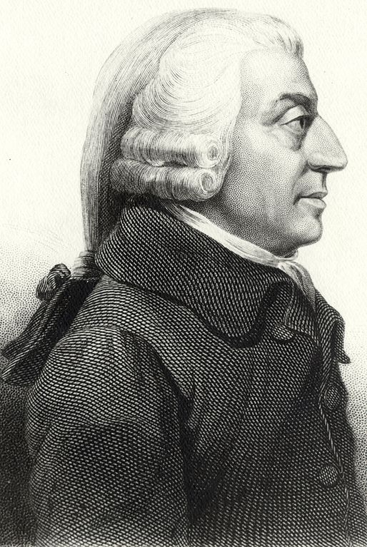 Profile of Adam Smith by James Tassie, 1787 (Wikimedia Commons)