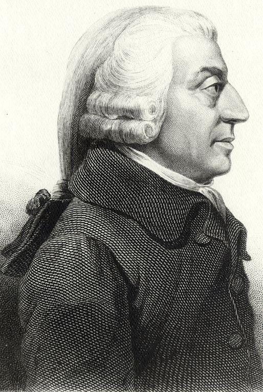 Profile of Adam Smith by James Tassie, 1787 (Wikimedia Commons)