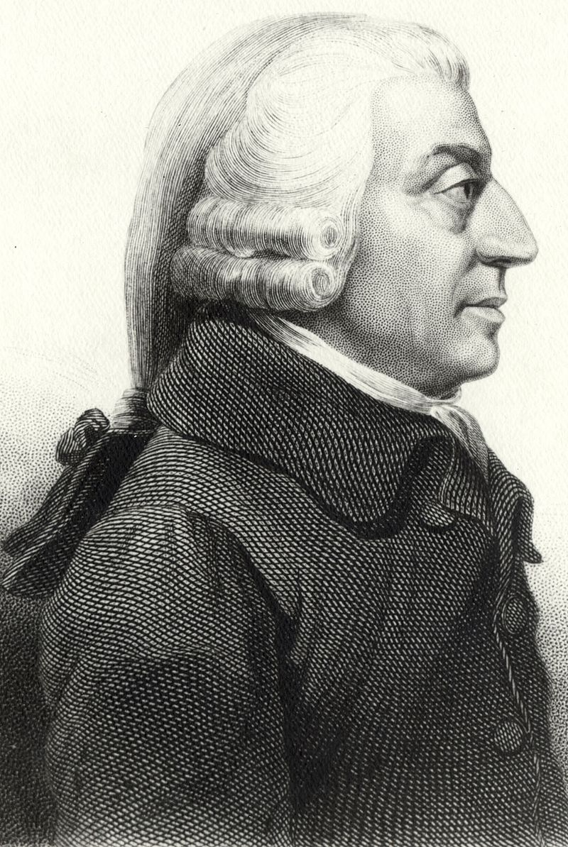 Adam Smith, la richesse des nations et la main invisible de l'économie. 800px-AdamSmith