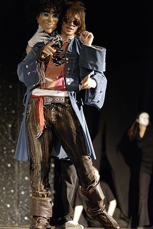 The Hitchhiker's Guide to the Galaxy - Adam Pope playing Zaphod in an amateur production of HHGTTG by Prudhoe's Really Youthful Theatre Company