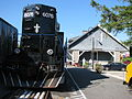 Adirondack Scenic RR engine 6076 at Lake Placid.JPG
