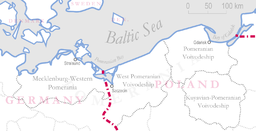 Pommerns administrative inddeling i dag.