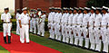 Admiral Bernard Rogel inspecting the guard of honour at South Block, New Delhi.JPG