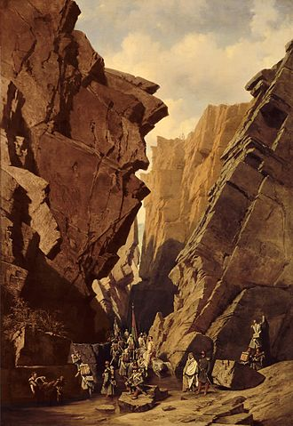 "Iron Gates (Algeria) - ""The Iron Gates Pass in Algeria, 18 October 1839"", by Adrien Dauzats."