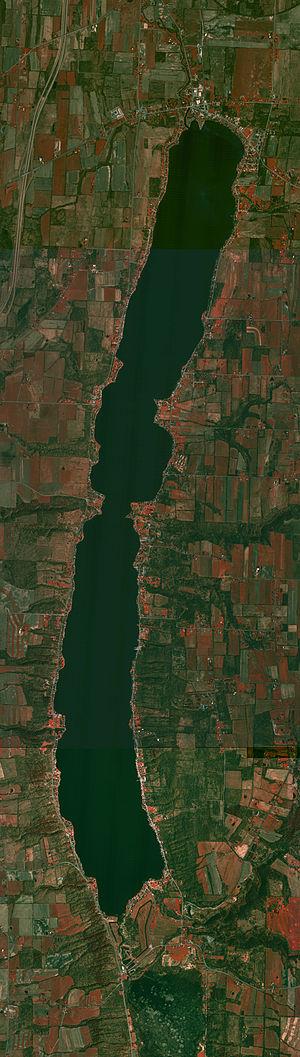 Conesus Lake - An aerial view of Conesus Lake.