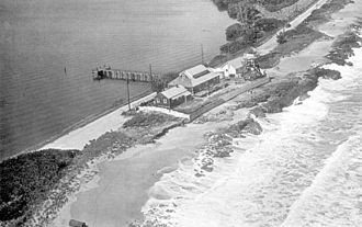 House of Refuge at Gilbert's Bar - Aerial view of the property, ca. 1960.