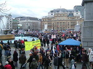 Stop the War Coalition - After the 2007 march, speeches in Trafalgar Square