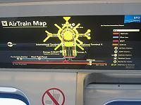 Terminal map aboard an AirTrain
