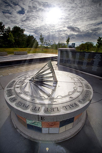 The Air India Memorial in Toronto, Ontario, Canada dedicated to the victims of Air India Flight 182 Air India Memorial.jpg