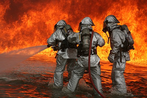 Aircraft Rescue Firefighting training