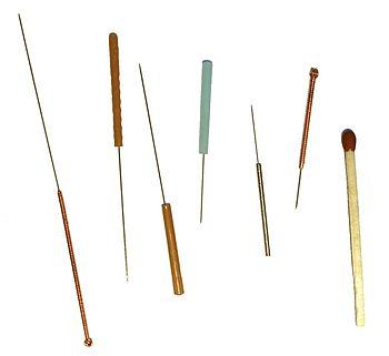 Akupunkturnadeln retouched