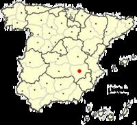 Situo de Albacete en Hispanio
