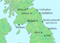 Aldfrith bishoprics and monasteries.png