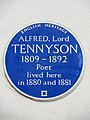 Alfred Lord Tennyson 1809-1892 poet lived here in 1880 and 1881.jpg