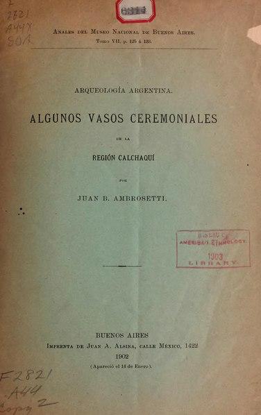 File:Algunos vasos ceremoniales de la región Calchaquí.djvu