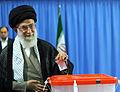 Ali Khamenei voting in 2013 Presidential Election of Iran.jpg