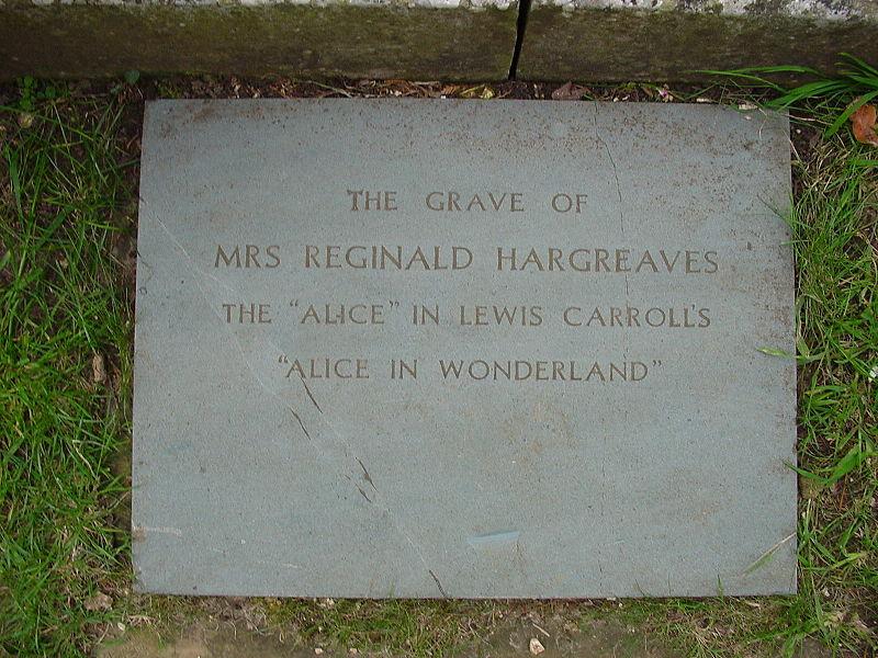 File:Alice Liddell grave in Lyndhurst1.jpg