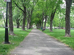 Sir Wilfrid Laurier Park - Image: Allee Parc Laurier