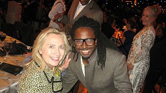 Allen Forrest - Allen Forrest and Secretary Of State Hillary R. Clinton at The 65 Decade Of A Difference Birthday Party For The 42nd President Bill Clinton